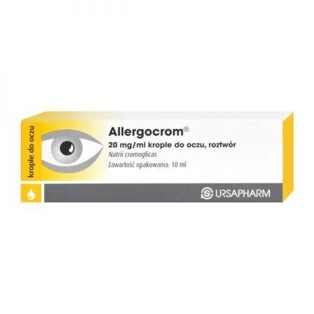 Allergocrom krople d/oczu x 10ml + Bez recepty | Alergia | Preparaty do nosa i oczu ++ URSAPHARM POLAND SP.Z O.O.