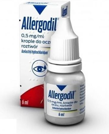 Allergodil, (0,5 mg/ml) krople do oczu, 6 ml + Bez recepty | Alergia | Preparaty do nosa i oczu ++ MEDA PHARMA (VIATRIS) GMBH & CO. KG