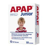 Apap Junior, 250 mg granulat, 10 saszetek