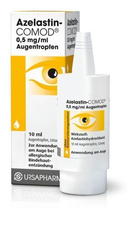 AZELASTIN COMOD 0,5MG/ML KROPLE 10ML + Bez recepty | Alergia | Preparaty do nosa i oczu ++ URSAPHARM POLAND SP.Z O.O.