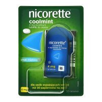 Nicorette Coolmint, 4 mg tabletki do ssania, 20 szt