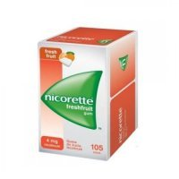 Nicorette Freshfruit, guma do żucia 4 mg, 105 szt