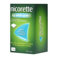 Nicorette Icy White Gum, 2 mg guma do żucia, 105 szt