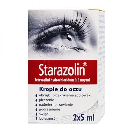 Starazolin, (0,5 mg/ml) krople do oczu, 2 x 5 ml + Bez recepty | Oczy i wzrok | Krople i żele do oczu ++ Polpharma